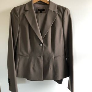 Ann Taylor Wool brown grey Pant Suit